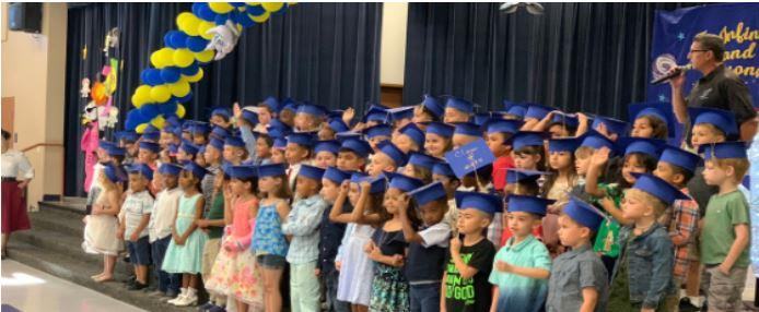 Kindergarten graduation at AESD